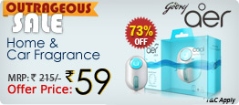 Godrej Aer Car Fragrance for Rs.78 and 48 Hr Sale of Electronic Accesories @ Shopclues