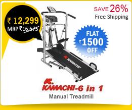 Kamachi 6 in1 Mannual Treadmill atRs.11,790