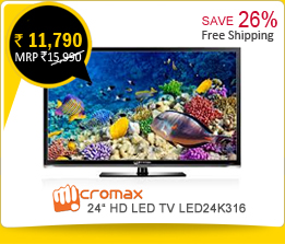 Micromax 24 inch HD LED TV LED24K316 at Rs.11,790