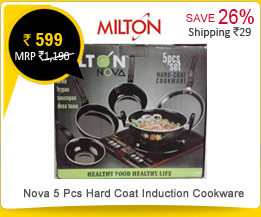 Milton Nova 5 Pcs Hard Coat Induction Cookware at Rs.599