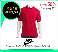 Nike Classic PIQUE POLO Men's T-Shirt at Rs.549