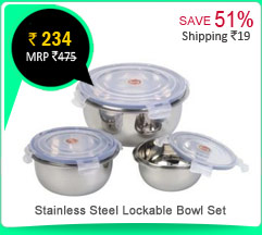 Stainless Steel Lockable Bowl Set Rs. 234