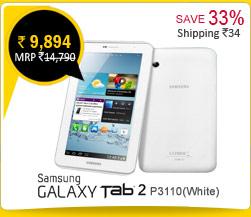 Samsung Galaxy Tab 2 P3110( white) Rs. 9,964