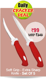 Soft Grip - Extra Sharp Knife - Set Of 5 Rs. 99