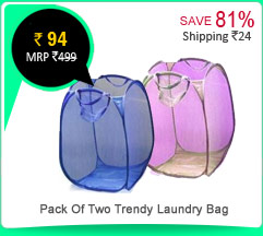 Pack Of Two Trendy Laundry Bag Rs. 94