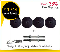 Protoner Weight Lifting Adjustable Dumbbells Rs. 1,244