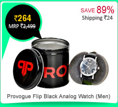 Provogue Flip Black Analog Watch (Men) Rs. 264