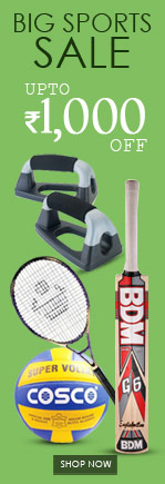 Big Sports Sale Upto Rs. 1,000 off