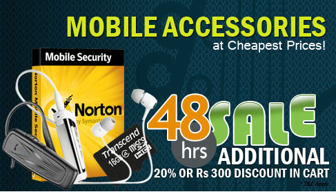 48hrs sale on Mobile Accessories , additional 20% off