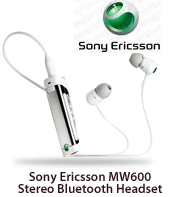 Sony Ericsson MW600 Stereo Bluetooth Headset(White)