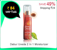 Dabur Uveda 2 In 1 Moisturizer 100gm Rs. 54