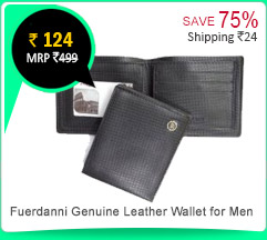 Fuerdanni Men's Genuine Leather Wallet Rs. 124