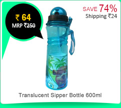 Translucent Sipper Bottle 600ml Rs. 64