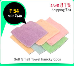 Set of 6 Soft Small Towel hancky Rs. 54