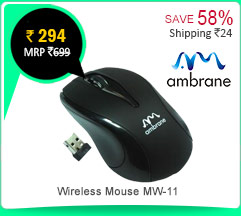 Ambrane Wireless Mouse MW-11 Rs. 294