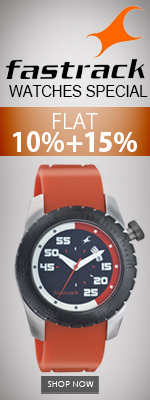 Fastrack Watches Special flat 10+ 15 % off