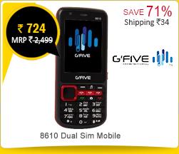 Gfive 8610 Dual Sim Mobile Rs.724