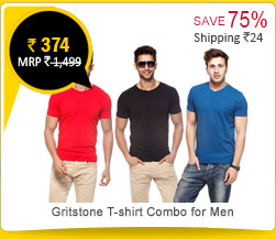 Gritstone T-shirt Combo for Men Rs. 374