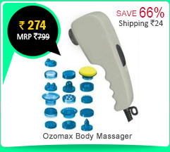 Ozomax Body Massager with 17 attachments Rs. 274