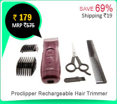 Proclipper Rechargeable Beard Hair Trimmer Rs. 179