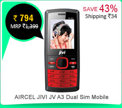 AIRCEL JIVI JV A3 Dual Sim Mobile Rs.794