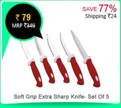 Soft Grip Extra Sharp Knife- Set Of 5