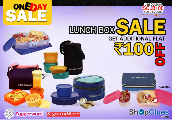 Tupperware, Signoraware LunchBox Sale get 100 Rs off