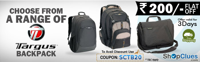 targus Backpack Flat Rs. 200 Off