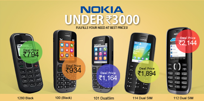 offers nokia mobiles under 3000 and charger. Black Bedroom Furniture Sets. Home Design Ideas
