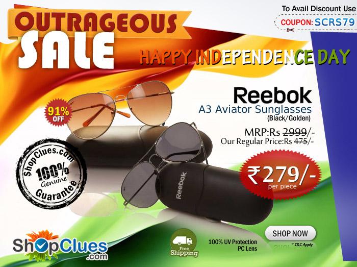 9a25470edcce Reebok A3 Aviator Sunglass Price