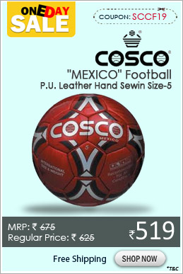"Cosco ""MEXICO"" Football P.U. Leather Hand Sewin Size-5"