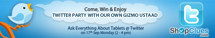 Come, Win & Enjoy Solve Tablet Queries with Our Gizmo Ustaad  @ Twitter on Monday (2-4 pm)