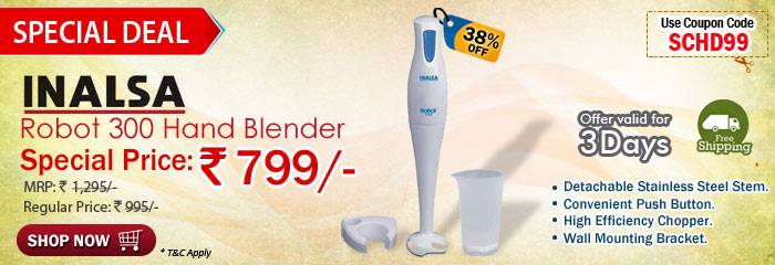 Inalsa Robot 300 Hand Blender Rs 799/- 