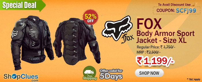 FOX Body Armor Sport Jacket - Size XL Just Rs 1,199/- with Free Shipping