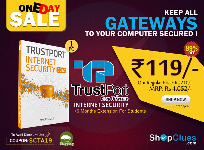 TrustPort Internet Security-1PC (1Year) Rs.119/-