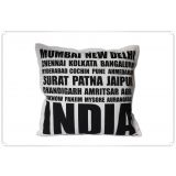 TEC India Names-16x16 Cushion Cover
