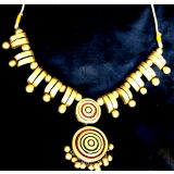 Gold Terracotta Necklace Set