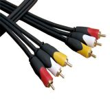 3RCA TO 3RCA PVC VIDEO AV CABLE RED/YELLOW/WHITE ENDS-2.7 METERS