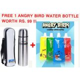 Milton Thermosteel Flask +FREE Angry Bird Foldable Water Bottle (Qty:1) Worth Rs.99