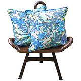 Elements Blue Autumn Cushion Covers - Set Of 2 Pcs