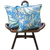 Elements Blue Autumn Cushion Covers - Set Of 5 Pcs