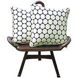 Elements Cream N Polka Design Cushion Covers - Set Of  5 Pcs