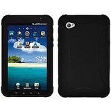 Amzer Silicone Skin Jelly Case - Black for Samsung GALAXY Tab GT-P1000, Samsung GALAXY Tab GT-P1000