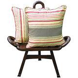 Elements Rust N Cream Linea Cushion Covers - Set Of 5 Pcs